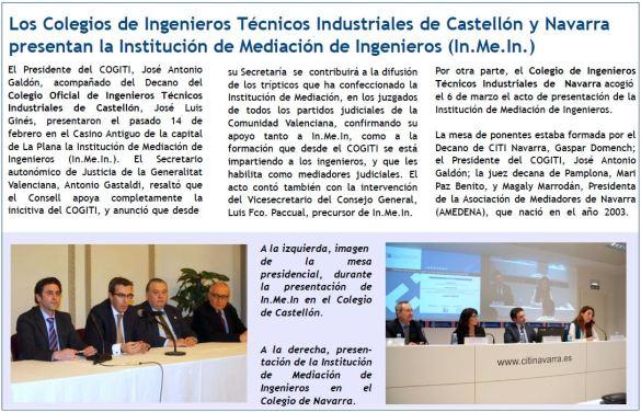Inaguración INMEIN en Castellón y Navarra